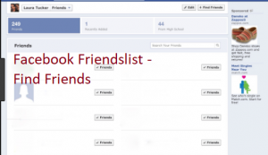 Facebook friends list