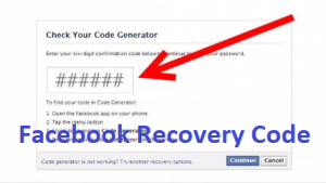Facebook-Recovery-Code
