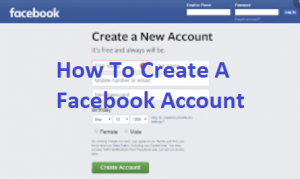 How-To-Create-A-Facebook-Account