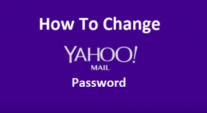 Change Yahoo Mail Password