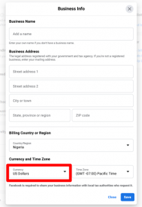 How To Change Facebook Pay Currency To Any Currency