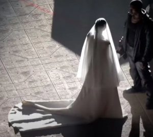 Kim Kardashian Wears Wedding Dress at 'DONDA' Event With Kanye West